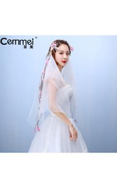 Korean New Bride Headdress Wreaths Head Yarn Wedding Photo Studio Brigade Beach Holiday Shoulder Yarn
