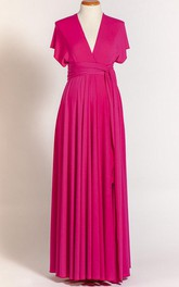 Infinity Maternity Fuchsia Long Dress