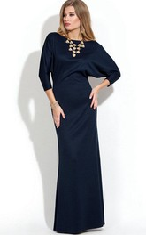 Bat-wing Sleeve Sheath Elegant MOB Gown
