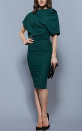 Elegant Oversized Top Pencil Dress