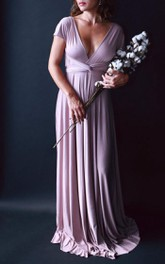 Swan Lake Heather Satin Long Octopus Convertible Wrap Gown Wedding Maternity Dress