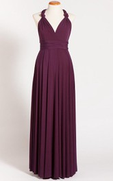 Purple Maternity Infinity Long Dress