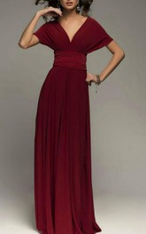 Burgundy Infinity Bridesmaid Wrap Convertible Wedding Dress
