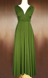Olive Infinity Convertible Multiway Wrap Full Length Dress