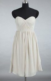 Custom Grey Convertible Junior Short Chiffon Bridesmaid Dress