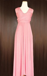 Maxi Blush Convertible Wrap Dress