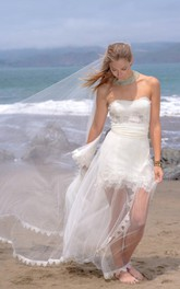 Boho Sweetheart A-Line Wedding Dress With Illusion Skirt