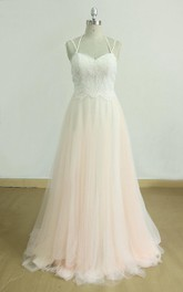 Sweetheart Backless Tulle Lace Weddig Dress