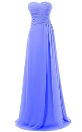 Sweetheart A-line Chiffon Gown With Ruching