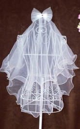 High-grade Multi-layer Tulle Flower Girl Veil with Bow