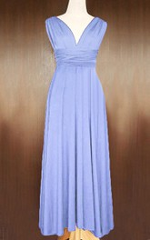 Maxi Periwinkle Convertible Twist Wrap Dress