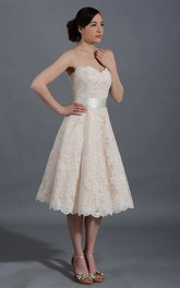 Straps Tulle Satin Lace Wedding Dress