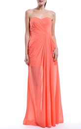 Floor-length Sweetheart Chiffon Dress
