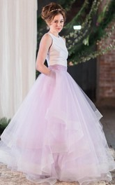 Ball Gown A-Line Tulle Dress With Draping