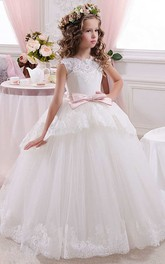 Sleeveless High Neck Lace And Tulle Ball Gown