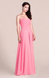 Sweetheart A-line Long Bridesmaid Dress