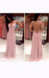 Long Backless Chiffon Stuning New Arrival