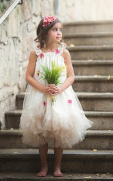 The Celia High End Gown For Girls Pink Ivory Flower Girl Dress
