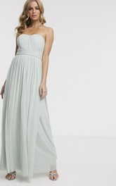 Sleeveless Sweetheart With Ruching And Sash Ethereal Chiffon Bridesmaid Dress