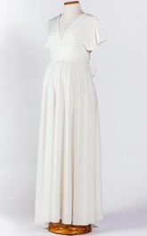 White Maternity Ivory Infinity Dress