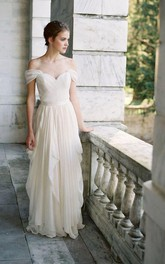 Ruffle Skirt Chiffon Wedding Dress