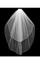 Elegant Tulle Two-tier Elbow Wedding Veil