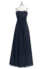 Empire A-Line Chiffon Pleated Dress With Spaghetti Straps
