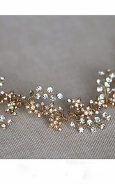Original Rhinestone Twig Soft Short Hair Head Ring 35Cm