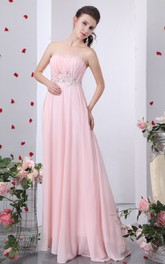 Modern Strapless Ruched Dress With Crystal Detailing And Draping