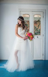 Tulle Bridal Circle Skirt Weddig Dress