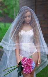 New Double-Layer Stretch Net Bridal Veil Simple Travel Photography Wedding Bridal Veil