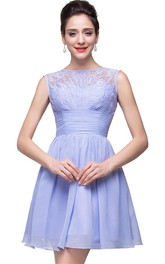 Lovely Sleeveless SHort Homecoming Dress Lace