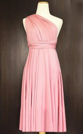 Short Blush Infinity Multiway Convertible Wrap Dress