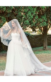 Bridal Veil Korean Style Retro Lace Wedding Veils Long Tail Super Fairy Headdress
