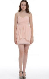 Short Sweetheart Chiffon Dress