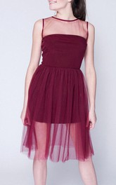 Marsala Short Tulle Tutu Without Rukovodila Prom Formal Bridesmaid Dress