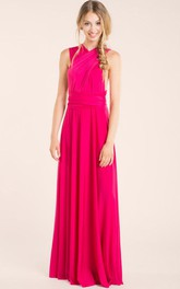 Long Fuchsia Infinity Dress