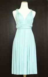 Short Mint Infinity Multiway Bridesmaid Convertible Wrap Dress