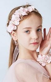 Forest Fairy Pearl Head Flowers Beautiful Pink Flowers Flower Hair Band