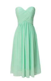 Strapless Sweetheart Ruched Short Dress With Lace-up Back