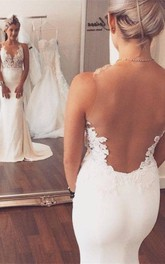 Noble Sleeveless Lace Appliques Wedding Dresses Mermaid on Sale