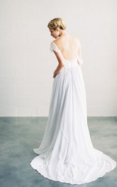 Sexy and Romantic Sweetheart Long A-Line Chiffon Wedding Dress