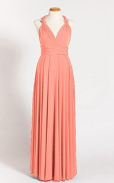 Coral Maternity Infinity Long Maternity Maternity Coral Maternity Convertible Ready To Ship Coral Dress