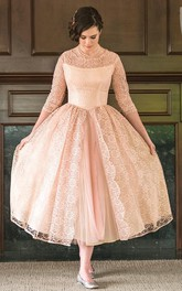 Tulle&Lace&Taffeta Dress With Flower