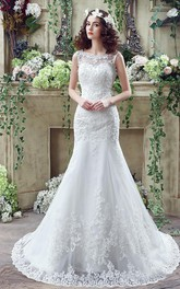 Timeless Mermaid Lace 2018 Wedding Dress Zipper Button Back Sweep Train