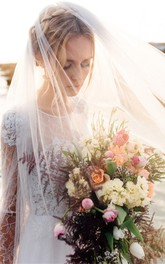 New Simple Widened Long White Soft Tulle Bridal Veil