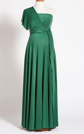 Emerald Green Maternity Long Maternity Infinity Long Maternity Gown Forest Green Maternity Green Baby Shower Dress