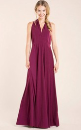 Burgundy Floor Length Infininty Versatile Dress