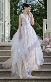 Tulle Satin Appliques Lace Wedding Dress