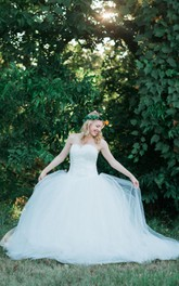 Ballgown Wedding With Dropped Waist The Amoreena Dress